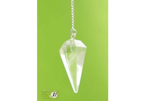 Pendel bergkristal punt facet (11 gram)