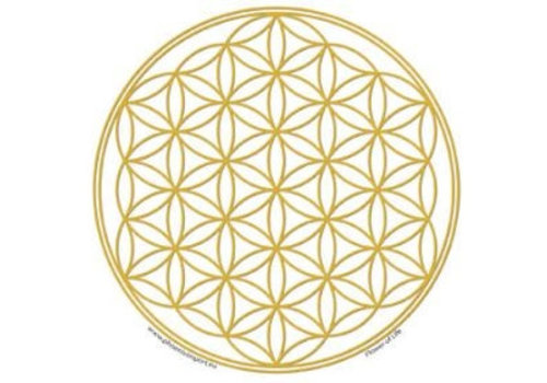 Raamsticker Flower of Life  (10,5 cm)