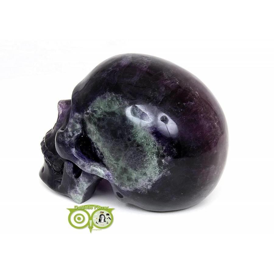 Fluoriet kristallen XL schedel KS-RMIN-138-1029