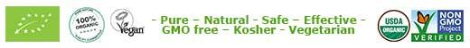 Organic India werkt biologische en fairtrade - GMO Free