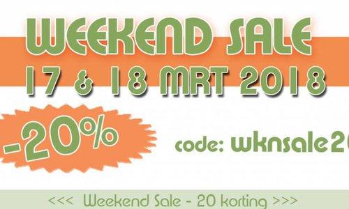 Weekend Sale -20 % | 17 & 18 Maart 2018