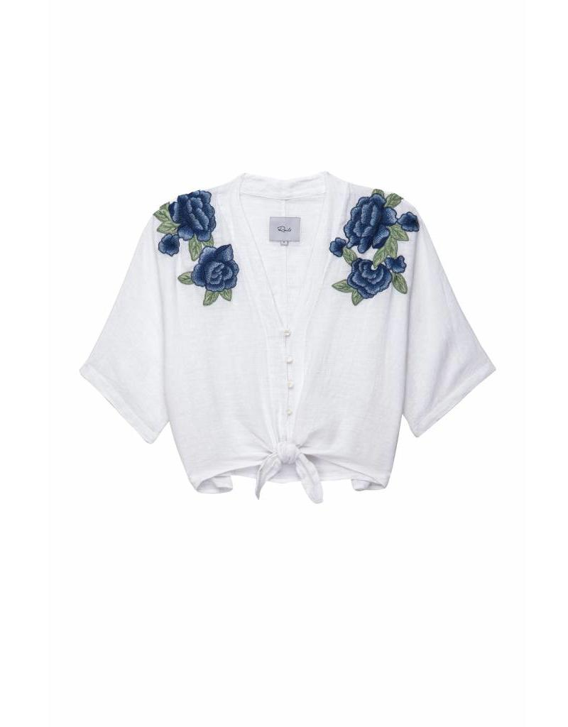 RAILS BLOUSE THEA BLUE ROSE EMBROIDERY