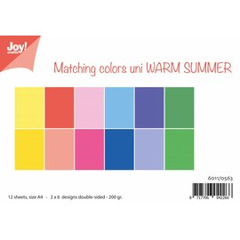 Joy!Crafts Papierset - Matching Colors - Warm Summer