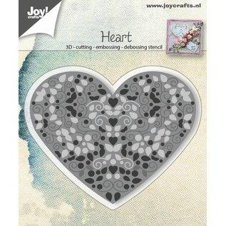Joy!Crafts Snij-embos-debosstencil - Hart gevuld