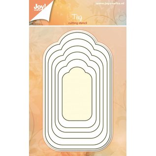 Joy!Crafts Basislijn snijstencil - Labels 6 st