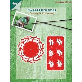Joy!Crafts Snij-en Embosstencil kerst kransen (2st)