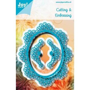 Joy!Crafts Snijstencil  - Ovaal Blauw met sierrand