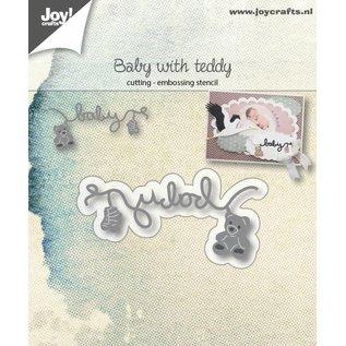 Joy!Crafts Snij-embosstencil - Tekst baby + sokjes - beertje