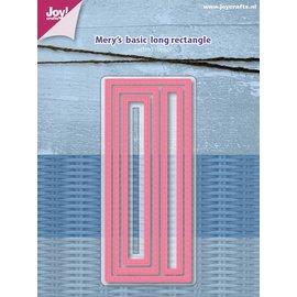 Joy!Crafts Snijstencil - Mery's Basic - Lange rechthoek