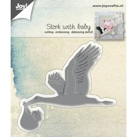 Joy!Crafts Snij-embos-debosstencil - Ooievaar