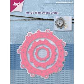 Joy!Crafts Snijstencils - Mery's Frame werk cirkels