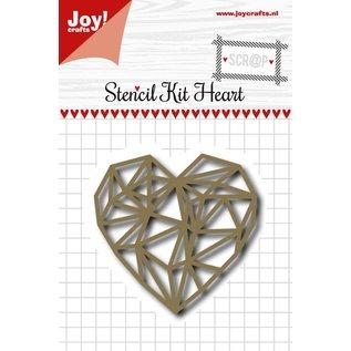 Joy!Crafts Snijstencil - Scrap Hart hoekig