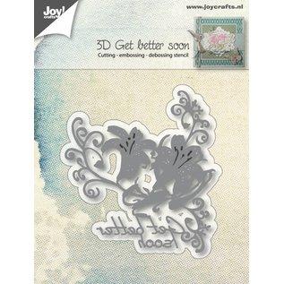 Joy!Crafts 3D - Snij-embosstencil - Get better soon