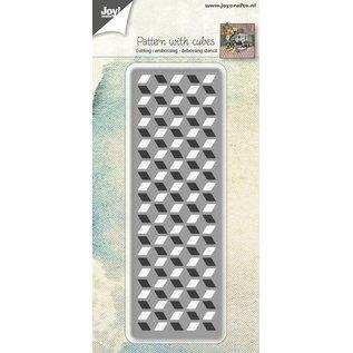 Joy!Crafts Snij-embos-debosstencil - Patroon met kubus