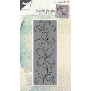 Joy!Crafts Snijstencil - Bloemen met vouwlijn
