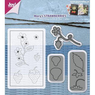 Joy!Crafts Snij- embosstencil & Stempel - Mery's Aardbeien