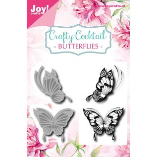 Joy!Crafts Snij-embosstencil & Stempel - CC - Vlinders