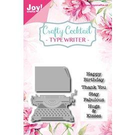 Joy!Crafts Snij-embosstencil/Stempel - Crafty C - Typemachine
