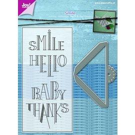 Joy!Crafts Snij-embosstencil/Stempel - Schuifhoekje met tekst