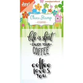 Joy!Crafts Clearstempel - Coffee txt - Enjoy