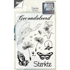 Joy!Crafts Clear stempel - Sterkte/Gecondoleerd