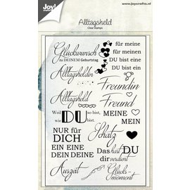 Joy!Crafts Clear stempel - Spreuken Duits - Alltagsheld