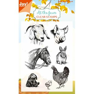 Joy!Crafts Clear stempel - At the Farm - Paard, konijn, geit