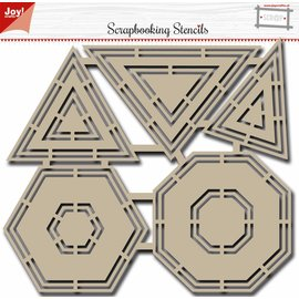 Joy!Crafts Polybesa Scrapbookstencil - Basic Shapes
