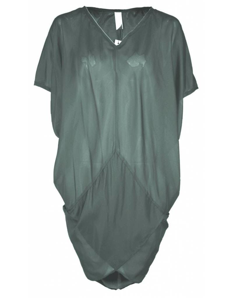 format TENT dress, silk