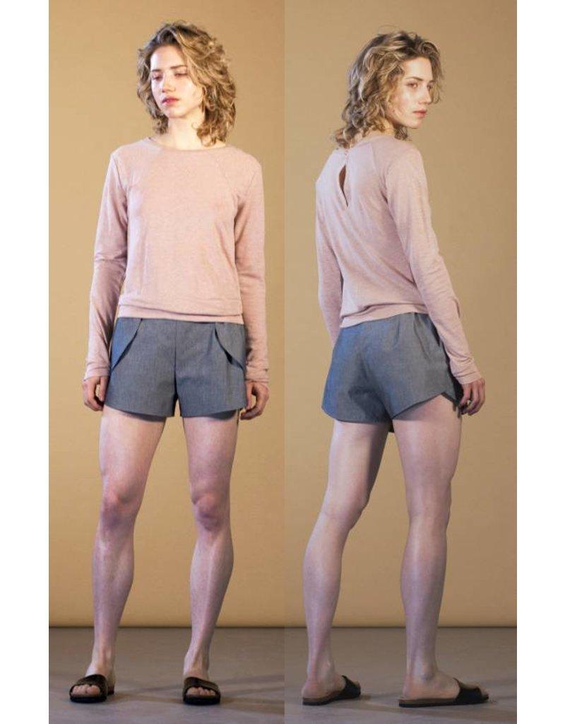 format ARON shorts, light denim