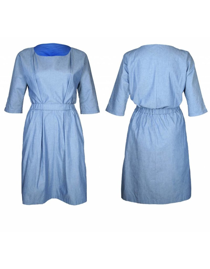 format NEAT dress, light denim